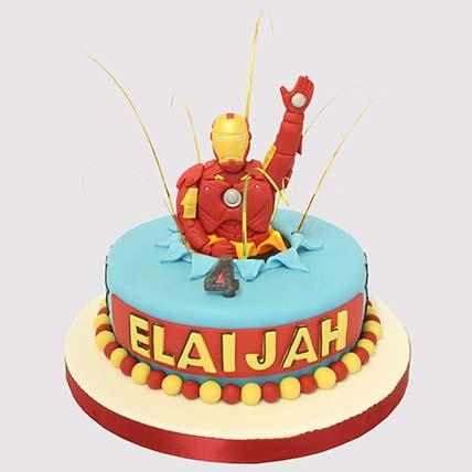 Iron Man Surprise Vanilla Cake