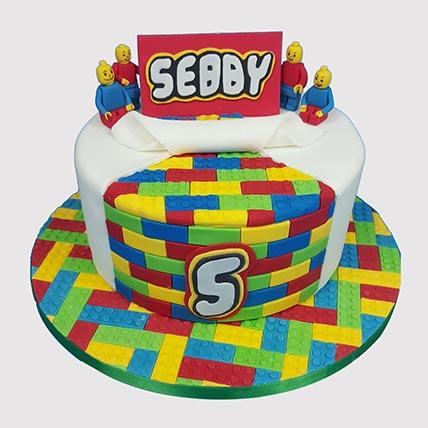 Legoland Themed Butterscotch Cake