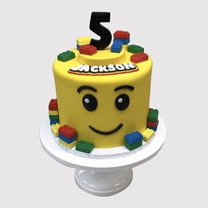 Lego Themed Birthday Butterscotch Cake