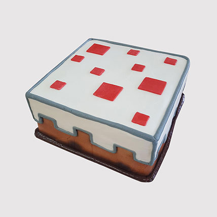 Minecraft Red Stones Truffle Cake