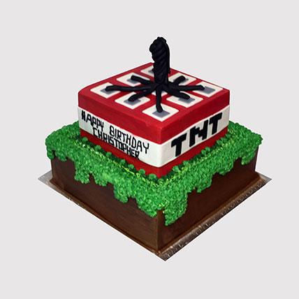Minecraft TNT Black Forest Cake