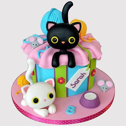 Playing Cats Truffle Cake
