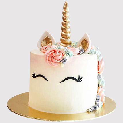 Pretty Unicorn Themed Butterscotch Cake