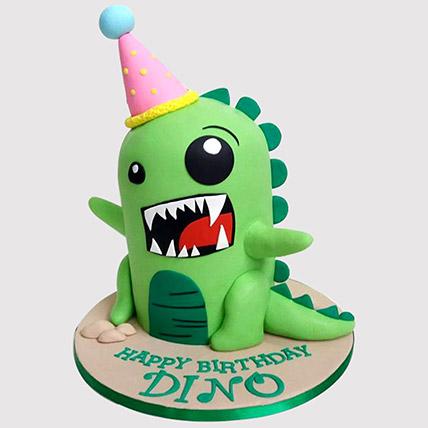 Rawring Dinosaur Truffle Cake