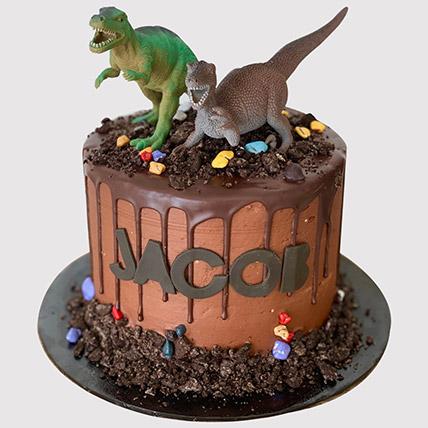 Roaring Dinosaurs Truffle Cake