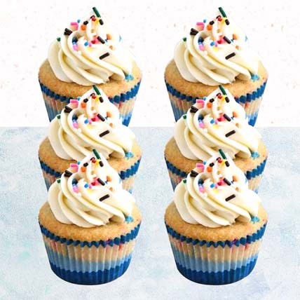 Vanilla Confetti Cupcakes- 6 Pcs