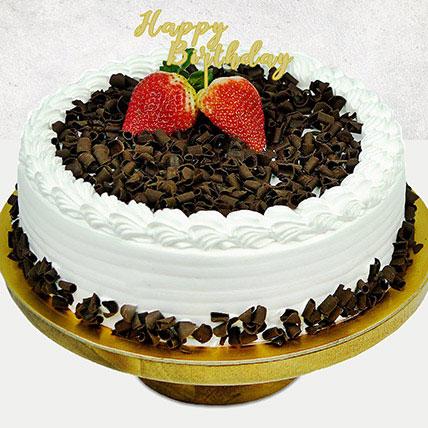 Black Forest Happy Birthday Cake