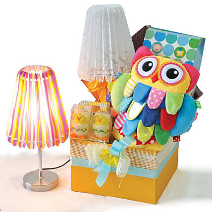 Bedtime Lamp And Duck Candles Baby Shower Hamper