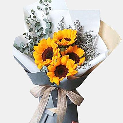 Blooming 4 Sunflower Bouquet