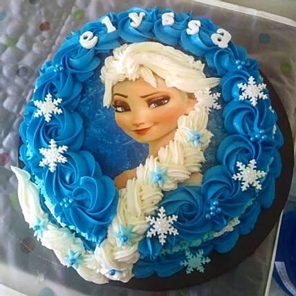 Frozen Character Theme Cake Chocolate