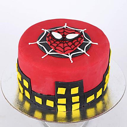 Round Fondant Spiderman Cake