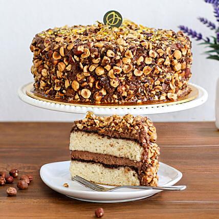Tempting Hazelnut Praline Cake