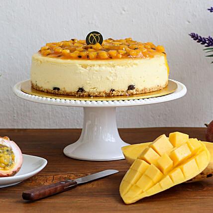 Tempting Mango Passion Cheesecake