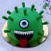 Coronavirus Truffle Cake