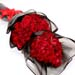 Enchanting 50 Red Roses 2 Layer Bouquet