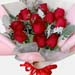 Exotic 12 Red Rose Bouquet
