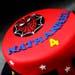 Spiderman Logo Chocolate Fondant Cake