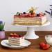 Tempting Raspberry Cheese Sponge Cake