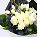 White Roses and Tulips Mixed Bouquet