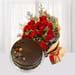 Red Roses and Red Velvet Cake Combo