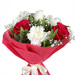 Red With White Floral Delight Bouquet