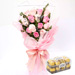 14 Mixed Roses Bouquet With Ferrero Rocher