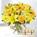 Happy Flowers Arrangement With Ferrero Rocher