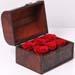 6 Red Forever Roses In Treasure Box