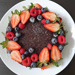 Berries & Fruit Chocolate Cake