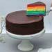 Rich Chocolate Rainbow Cake