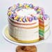 Rainbow Vanilla Bean Cake 5 inches