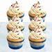 Vanilla Confetti Cupcakes- 12 Pcs