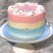 Delightful Vanilla Ombre Cake- 6 inches