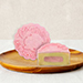 Strawberry Chia Truffle Yolk Mooncakes- 2 Pcs