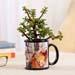 Jade Plant In Personalised Black Mug