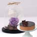 Chocolate Cake & Forever Rose In Glass Dome- Purple