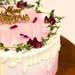 Elegant Christmas Snow White Cake