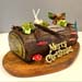 Festive Christmas Tree Chocolate Log Cake