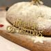 Merry Christmas Drips Brandy Stollen Loaf