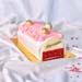 Raspberry Lychee Log Cake