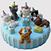 Animal Party Truffle Cake