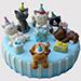 Animal Party Vanilla Cake
