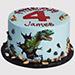 Fondant Dinosaur Truffle Cake