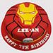Iron Man Special Logo Vanilla Cake