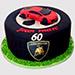 Lamborghini Themed Vanilla Cake