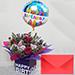 Birthday Flower Arrangement With Greeting Card