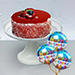 Mousse Cake With Birthday Balloons