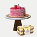 Mousse Cake With Ferrero Rocher