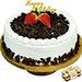 Black Forest Happy Birthday Cake With Ferrero Rocher