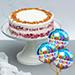 Classic Red Velvet Peanut Butter Cake With Birthday Balloons